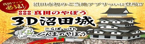 上州真田3D沼田城